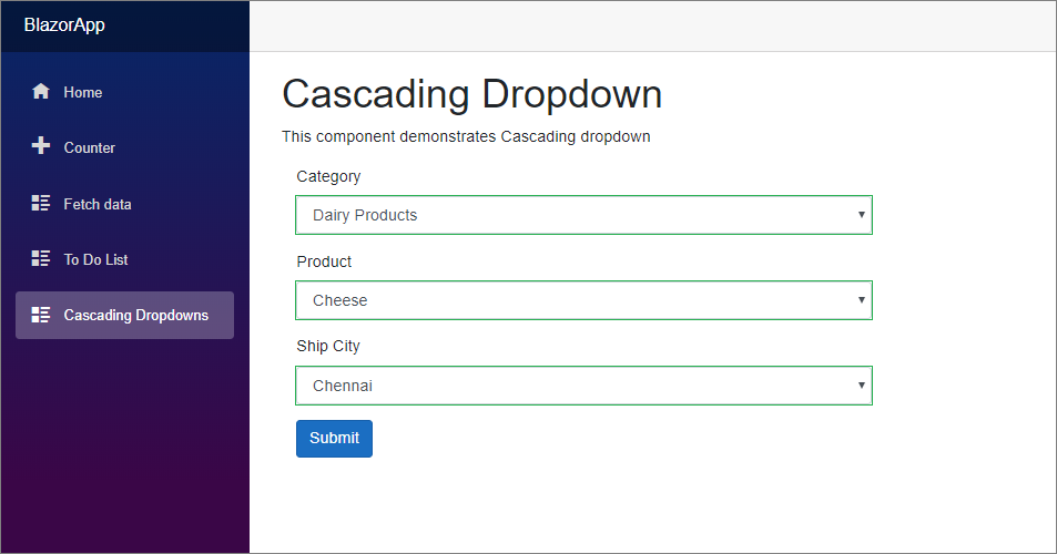 Cascading Dropdowns
